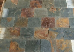 "Authentic Natural SLATE tile 12"" x 12"" (230sq.ft.)"