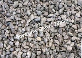 Decorative gravel aggregates dove grey gravel