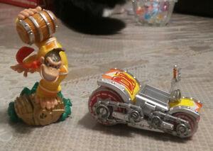 Figurine (Skylanders,Amiibo) DK+Véhicule