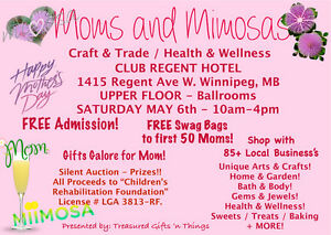MOMS AND MIMOSAS CRAFT AND TRADE SHOW / EVENT / SALE Winnipeg Manitoba image 1