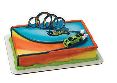 Hot Wheels Drift Car cake decoration Decoset cake topper set toys
