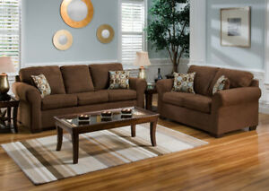 dark brown couch and loveseat free delivery