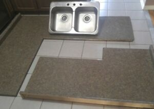 Kitchen Laminate Countertops with Matching Sink Piece for Sale!