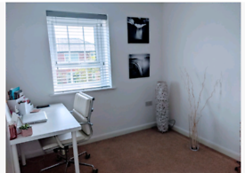 IKEA desk and chair for home office