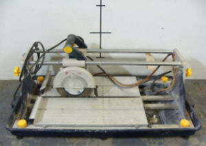 "Mastercraft 10A Sliding Wet Tile Saw 7"" AVAIL IF POST UPIn exce"