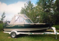 Lund Pro Sport 17' boat with 115 HP Evinrude Outboard & many acc