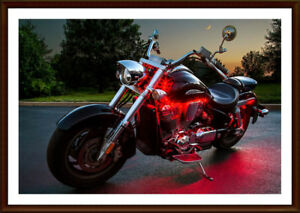NEW 6 PIECE 15-COLOR MOTORCYCLE LED GLOW LIGHT KIT (Chwk)