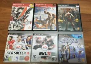 PS2/PS3 games for sale.