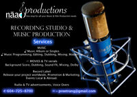 A Specialized facility for SOUND RECORDING & AUDIO PRODUCTION