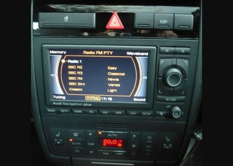 audi a4 s4 rs4 b7 b6 rns e sat nav cd player mp3 mmi fits. Black Bedroom Furniture Sets. Home Design Ideas