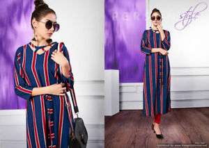 S-more Stripes is a fancy printed designer rayon kurti