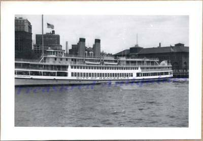1940s Jersey New York City of Keansburg Excursion Steamboat Ferry KSC Photo