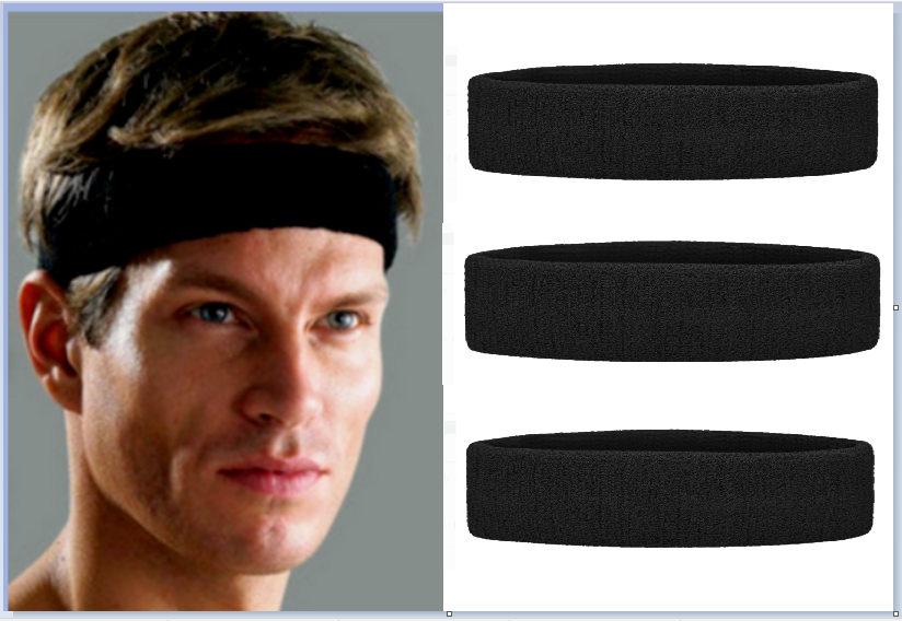 3 X Athletic Cotton Terry Cloth Headband THICK & COMFY Sweat