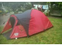 VENGO ALPHA 3 MAN TENT PLUS Camping Stoves and stool and lamp etc