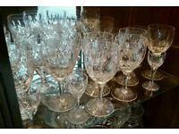 Large Stuart Glencoe Cut Crystal Glass Selection - Individually priced