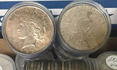 1922-1926 PEACE SILVER DOLLAR VERY GOOD - EXTRA FINE 90% -