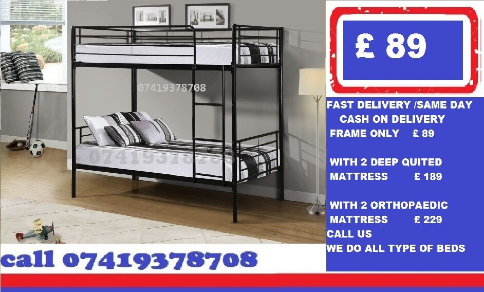 metal bunk Base Base availableBeddingin Barking, LondonGumtree - MID FEB OFFER.~.~.Available at Half of the Orignal Price.~.~. We Deal in all sizes of Divan ,Leather Beds.~.~.Other Furnitures sofabeds, wardrobe, sofa available also.~.~.Brand New Delivery Same day Contact Us
