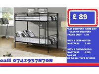 Brand New Metal Bunk Frame Available Bedding Order Now