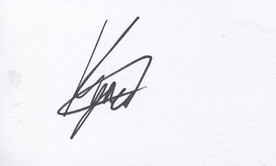 A 5 x 3 inch white card. Personally signed by Snooker player Kyren Wilson.