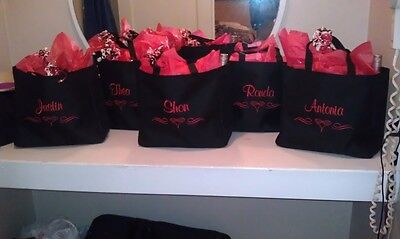 6 WEDDING TOTE Bag personalized THE PERFECT BRIDESMAID BRIDAL GIFT - Wholesale Personalized Gifts