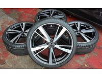 SET OF 4 NEW GENUINE 21 INCH 5X112 AUDI SPORT A6 S6 RS6 RS7 ALLOY WHEELS WITH NEW TYRES
