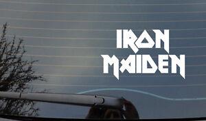 Iron Maiden WINDOW BODYWORK  BUMPER STICKER   4X4 CAR VAN LAPTOP  JDM
