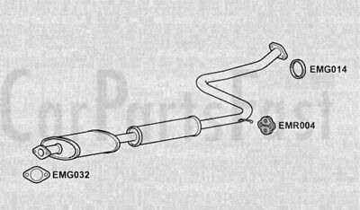 Klarius Exhaust Centre Pipe BRAND NEW Silencer Box MZ227K 5 YEAR WARRANTY