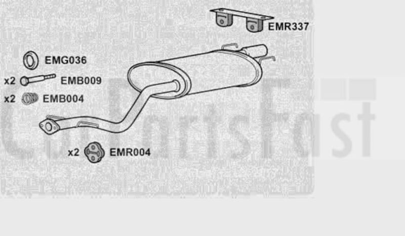 EXLS6002 EXHAUST SILENCER TAIL PIPE +3Yr Warranty