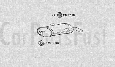 Exhaust Rear Box Citroen Saxo 1.1 Petrol Hatchback 10/1999 to 02/2004
