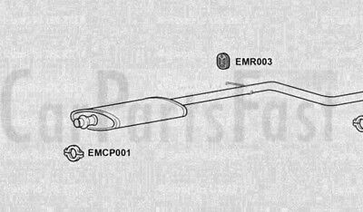 Exhaust Middle Box Citroen Saxo 1.6 Petrol Hatchback 10/1999 to 09/2000