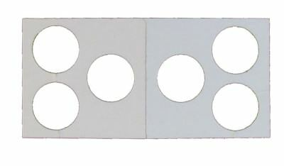 3 Hole - Penny/Cent Guardhouse 2x2 Mylar/Cardboard Coin Flips, 100 pack