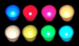 6 Light Up Candles with 8 Colours