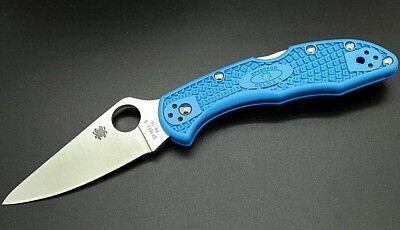 Spyderco Delica 4 Lightweight Folding Knife 2.9 VG10 Steel Blade Blue FRN Handle