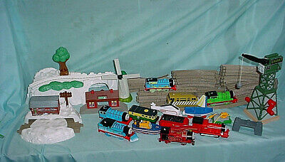 Thomas Train Engine Snow Storm Adventure Set Lot Cranky Track Motorized James