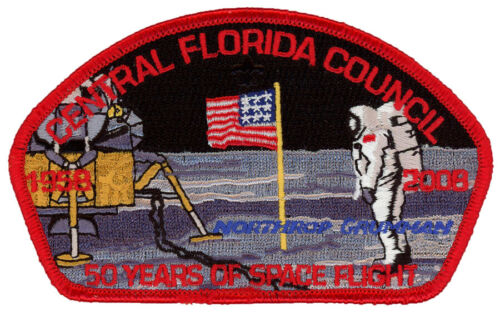 Central Florida Council 50 Years of Space Flight CSP Uniform NASA Patch Badge