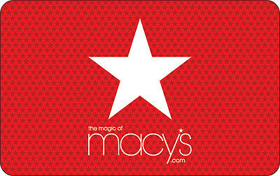 Macy's Gift Card - $25, $50 $100 or $200 - Fast Email delivery