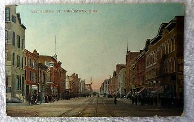 Postcard West Federal Street Business Stores Youngstown Ohio  Ddd5