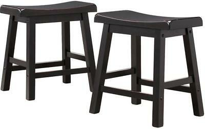 (Set of 2 New Black stools for arcade cocktail table 18