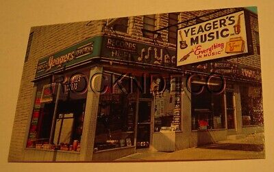 1967 Yeager's Music Store Photo Business Card Baltimore MD Fender Vox Gretsch