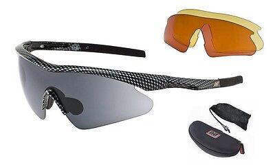 Dirty Dog Sport Sunglasses -Alternator #58001 (Carbon Frame 3 Lens (Alternator Sunglasses)