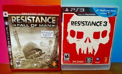 Resistance 1 + 3  - Sony PlayStation 3 PS3 Games Lot Tested COMPLETE w/ Manuals for sale  Shipping to Nigeria