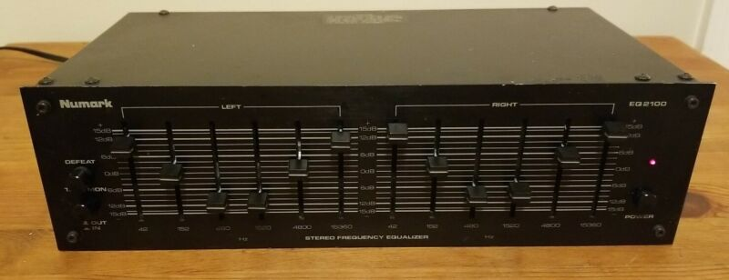 Numark EQ 2100 Stereo Graphic Equalizer Works Great Free Shipping