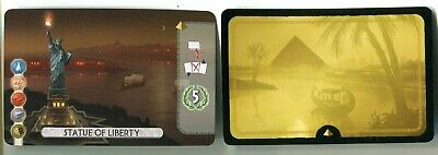 Asmodee 7 Wonders DUEL Statue of Liberty Promo Location Card Version 1