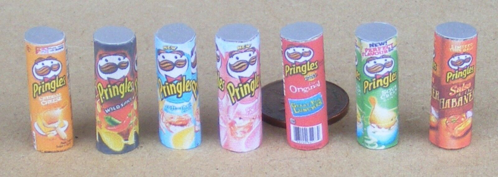 1:12 Scale Empty Pringles Packets Tumdee Dolls House Food Snacks Accessory