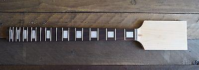 Eden Paddle Guitar Neck Rosewood Maple 21 Jumbo Frets Block Inlay Unfinished