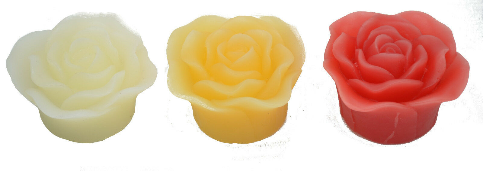 LED Kerze Rose Hellum Echtwachsrose Schwimmende Wachsrosen Kerzen Set Wachs