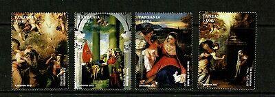 U0159 TANZANIA 2015 Christmas issue - paintings  MNH