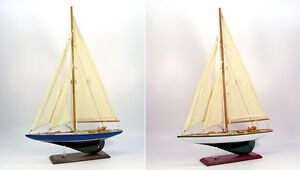 Wooden-model-j-class-racing-yacht-35cm-blue-or-white-nautical-sail-boat