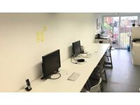 Quirky desk space available short term in this shipping container