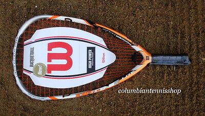 Wilson 2015 Drone Lite 165 gram racquetball racquet SS 3 5/8 smallest grip $225